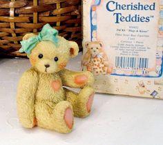 """Cherished Teddies 'Jacki' ~ """"Hugs & Kisses"""" Retired Vintage Collectible Figurine"""