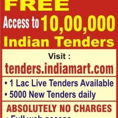 Find largest database of info on Indian Tenders.
