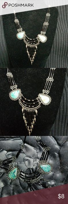 Boutique necklace *FIRM PRICE* Boutique Necklace. Turquoise, black and silver necklace. Jewelry Necklaces