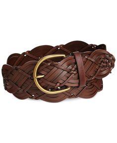 a566993ad Women s Plus Size Braid Belt - Ava   Viv Brown 1X