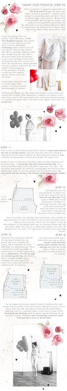 Tutorial: How to Make Tummy Tuck Pockets