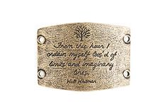 NEW! - Limits and Imaginary Lines - Large Brass Sentiment - Lenny