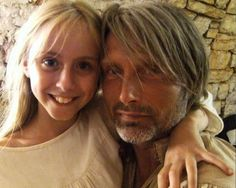 Mads & Hannibal — mads + his littlest fans & co-stars...