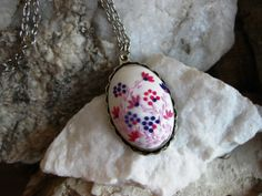 White Pink Lilac And Purple Necklace