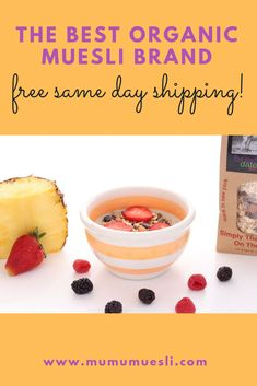 Get free same day shipping on the best organic muesli brand on the planet One simple blend from 8 raw whole ingredients How to Eat Muesli Muesli Bulk How to Prepare Mue. Healthy Breakfast Options, Vegan Breakfast Recipes, Vegan Recipes Easy, Raw Food Recipes, Vegan Meals, Breakfast Ideas, Cooking Recipes, Cooking Ideas, Clean Eating Grocery List