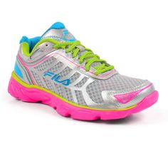 Take a look at the FILA Silver & Neon Green Memory Aerosprinter 2 Sneaker on today! Fila Running Shoes, Running Sneakers, Cute Sneakers, Shoe Boots, Shoe Bag, Green Shoes, Silver Shoes, Neon Green, Slip On Shoes