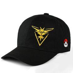 f30de44f8fb Pokemon Go Cap Hat Team Valor Team Mystic Team Instinct Pokemon Cap Go Team  Black Baseball Cap Men Snapback Pokemon Hat Women