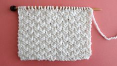How to Knit the Double Moss Knit Stitch Pattern with Video Tutorial by Studio Knit Easy Knitting Patterns, Knitting Stitches, Free Knitting, Knitting Projects, Stitch Patterns, Crochet Patterns, Knit Dishcloth, Moss Stitch, Purl Stitch
