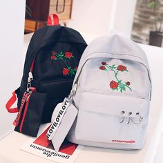 Cheap floral canvas backpack, Buy Quality canvas backpack directly from China backpack style Suppliers: Korean Style Ulzzang Preppy Style High School Student HongKong Style School Bag Personality Kawaii Girl Floral Canvas Backpack