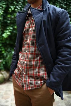 Great Plaid | Men's Fashion | Menswear | Men's Casual Outfit for Fall/Winter | Moda Masculina | Shop at DesignerClothingFans.com
