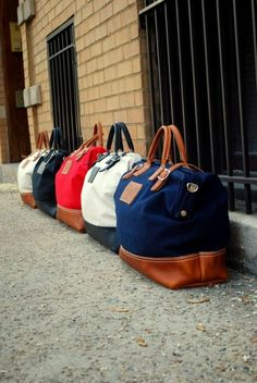 weekend bags - love these!