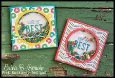 Pink Buckaroo Designs: Friendly Wishes Square Shaker Card Video