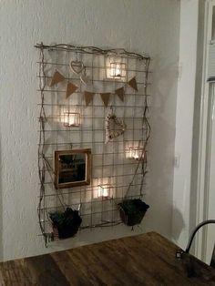 Betongaas als decoratierek: romantische stijl