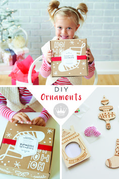 "Grab yourself a cute, adorable, super-fun maker kit called ""Handmade Hallmark"" from Think.Make.Share, a blog from the Creative Studios at Hallmark, to make your own DIY handmade Christmas ornaments with your kids."