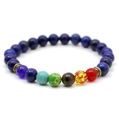 7 Chakra Bracelet Men Black Lava Healing Balance Beads Reiki Buddha Prayer Natural Stone Yoga Bracelet For Women