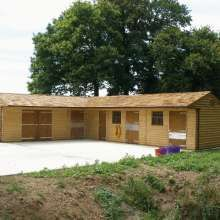 Brand new timber stable complex