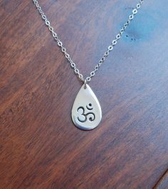 Sterling silver ohm pendant necklace by jersey608jewelry on Etsy, $30.00