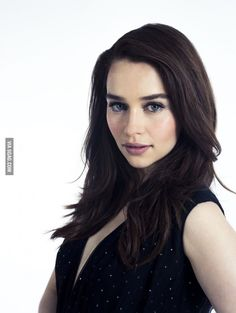 She's WAY prettier as a brunette. Emilia Clarke.