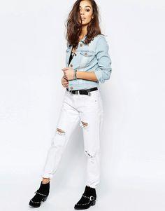 Immagine 4 di Noisy May Petite - Giacca di jeans lavaggio chiaro