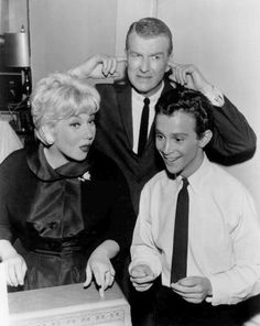 The Ann Southern Show (her 2nd TV show) - ran from 1958-1961.  In 1959, the series won a Golden Globe Award for Best Television Series – Musical or Comedy. Ann played an assailant mg in  a swanky NYC hotel. Don Porter (also dad on TVs Gidget) was the hotel manager. L-R Ann Southern, Don Porter, Joel Gray (photo from the 1960 season).
