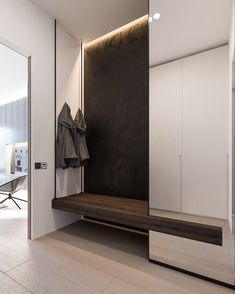 The modern entryway decor ideas in these 11 entry's are gorgeous and minimal. Perfect for a small front entrance, these ideas would be great to steal and to put in your home. Minimalist Interior, Minimalist Bedroom, Modern Bedroom, Minimalist Apartment, Minimalist Wardrobe, Modern Minimalist, Entryway Storage, Entryway Decor, Entrance Decor