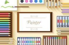 Check out 2 painter table workspace artboard by Sir.Enity on Creative Market