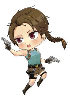 If you love this #anime #chibi style CLICK HERE! https://www.fiverr.com/fifikawaii/draw-a-cute-chibi-of-you-or-of-anything-you-want To Get It For 5$ #laracroft #anime #chibi #cute
