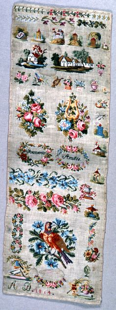 19th Century French Sampler Dated 1814