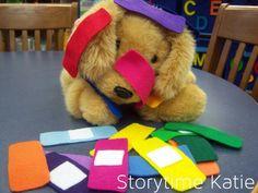 Band-Aid flannelboard for Sick/Get Well storytime // Storytime Katie/Flannel Friday Language Activities, Toddler Activities, Preschool Activities, Preschool Programs, Therapy Activities, Educational Activities, Felt Board Stories, Felt Stories, Prop Box