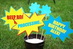 Photo Props | 22 Adorable Ideas For An Epic Robot-Themed Birthday Party