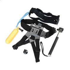 Selfie Monopod Tripod Adapter Float Bobber Stick Chest Strap For For Gopro. Selfie Monopod Tripod Adapter Float Bobber Stick Chest Belt Head Strap For Gopro Hero 4 3 HD SJ4000 Xiaomi Yi Sport Camera Description: This accessories set is suitable for gopro, suits for all GoPro Hero4/ 3/ 2/ 3 and also for HD SJ4000 Xiaomi Yi Sport Camera Feature: Handheld Monopod For Gopro / SJ4000 / Xiaomi Yi Close-Extends: 20-92cm Folded Length: 220mm Extened Length: 1090mm Size of product: 6 segments F...