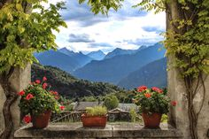 Another view from the Vertemate Franchi Palace in Chiavenna
