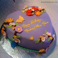 Write name on Best Birthday Cake For Husband - Happy Birthday Wishes