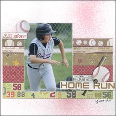 Big League Hitter layout by Carolyn Lontin