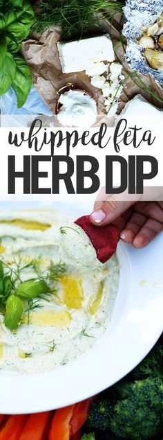 Whipped Feta Herb Dip recipe ONEarmedMAMA.com #ad #collectivebias #TrySomeTHINGood @Krogerco