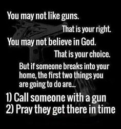 Find me an American who owns a gun and is ready to protect their loved ones from an intruder and I'll show you a person who loves their family, actions speak louder than words.