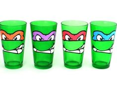 teenage mutant ninja turtles! Awesome for birthday punch, but could get plain green cups and use puff paint on them