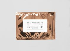 PATRIMONY PATRIMONY metal foil pocket identity los angeles