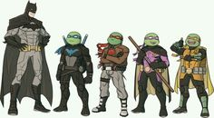 Batman tmnt Robins