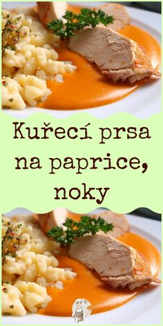 Kuřecí prsa na paprice, noky Mashed Potatoes, Grains, Rice, Beef, Ethnic Recipes, Food, Red Peppers, Whipped Potatoes, Meat
