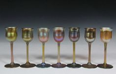 TIFFANY GLASS STEMWARE.