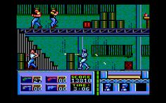 Robocop (Ocean, 1988). Platformer / shooter, also published on many platforms.