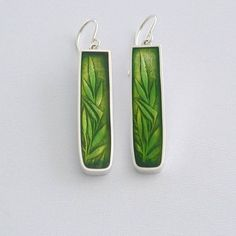 PMC and resin earrings