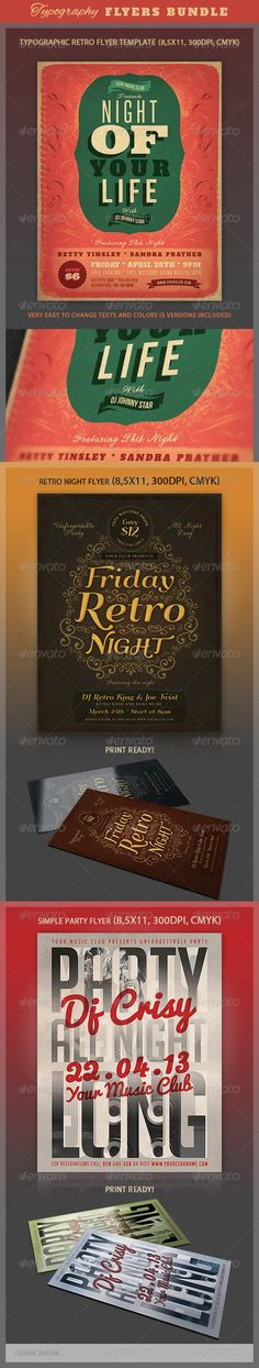 Typography Flyers Bundle - http://graphicriver.net/item/typography-flyers-bundle/4480195?ref=cruzine