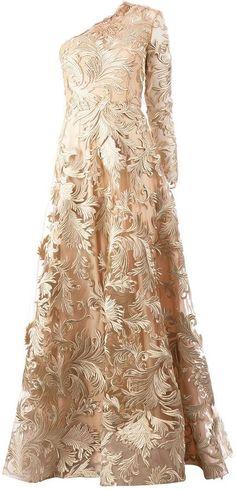 Georges Mak 'Jessika' one shoulder embroidered dress