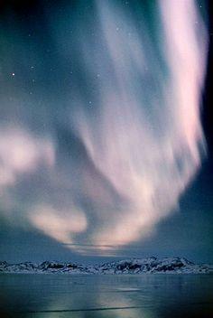 Aurora Borealis, nordlys, over Sydgrønland / Aurora Borealis, northern lights, over South Greenland - Narsaq