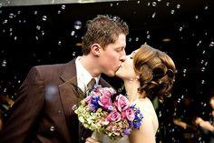 casamento chuva de bolinha de sabão