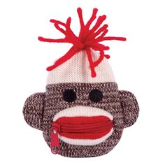 Sock Monkey Coin Purse from Schylling