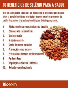 Clique na imagem e veja os detalhes dos 10 Benefícios de Selênio para Saúde.  #selênio #vitamina #alimentação #alimentacaosaudavel #saúde #bemestar