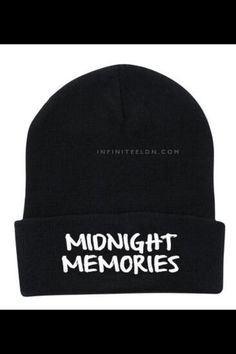 Can someone get me this beanie? Please? Xx It reminds me of the beanie my dad gave me when I was ten... Of course it didn't say midnight memories, wish it did but yeah... I want this hat so badly.